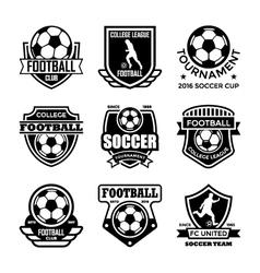 Football badges vector