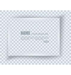 Frame on blank sheet of paper vector
