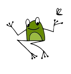 Funny frog sketch for your design vector image vector image