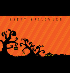 halloween background with tree style vector image vector image