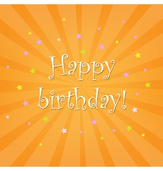 Happy Birthday Card With Stars vector image