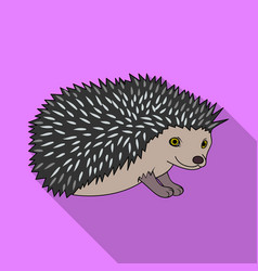 hedgehoganimals single icon in flat style vector image vector image