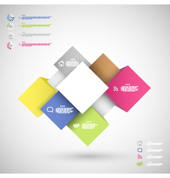 Infographic colorful cubes for data presentation vector
