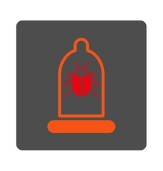 Insect protection rounded square button vector