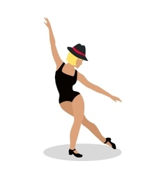 Jazz Dancer Tap Dance Jitterbug Swing Lindy Hop vector image