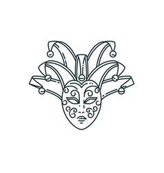 Line carnival mask design vector