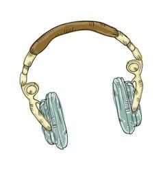 music headphone gadget vector image