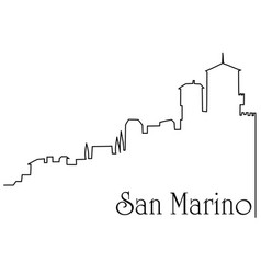 San marino city one line drawing background vector