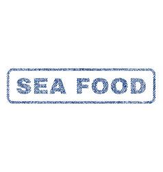 Sea food textile stamp vector