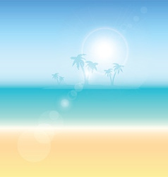 Summer themed background vector image vector image