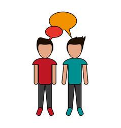 Talking men design vector