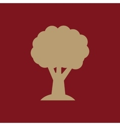 The tree icon nature symbol flat vector