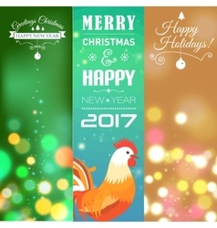 Vertical banners set with 2017 chinese new year vector