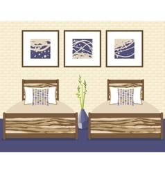 with bedroom in flat style vector image