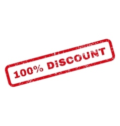 100 Percent Discount Text Rubber Stamp vector image