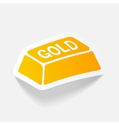 Realistic design element bullion gold vector