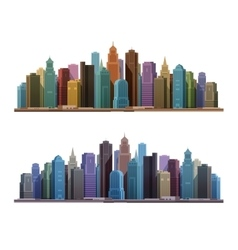 City skyline with skyscrapers construction vector