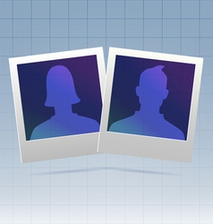 Social network couple vector image