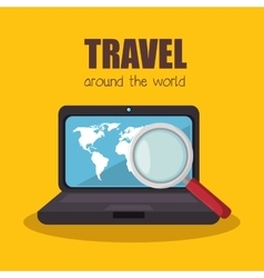 Buy online travel tickets vector