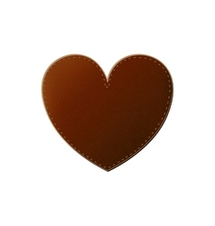 Isolated leather heart design vector image
