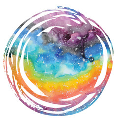 Watercolor galaxy background vector
