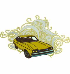 retro car illustration vector image