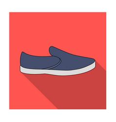 blue men summer espadrilles  summer comfortable vector image