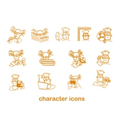 Character site icons vector