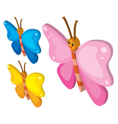 3d design for colorful butterflies vector
