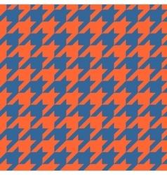Houndstooth tile pattern or tweed wallpaper vector image