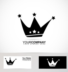 King crown logo black and white vector
