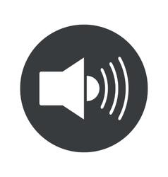 Monochrome round loudspeaker icon vector