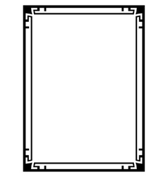 Art deco black ornamental decorative frame vector