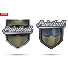 Premium symbols of paintball tag vector
