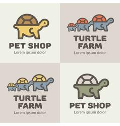 Turtles Logos vector image