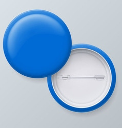 Blank blue badges vector image