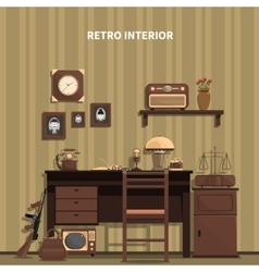 Retro interior vector