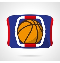 Basketball store flat color icon vector
