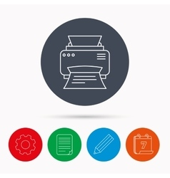 Printer icon print document technology sign vector