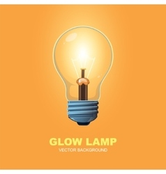 Glow lamp background vector