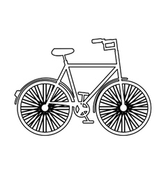 Retro bicycle hipster style isolated icon design vector