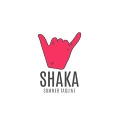 Shaka logo icon surfing symbol shaka logo vector