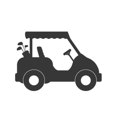 Golf cart icon sport concept graphic vector
