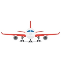Modern airplane isolated on white background vector