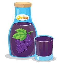 A grape juice vector image vector image
