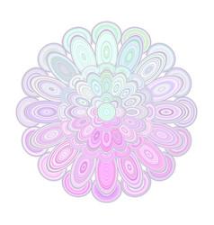 abstract floral mandala art - digital graphic vector image vector image