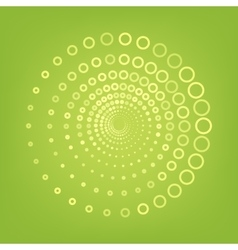 Abstract technology circles line icon vector image vector image