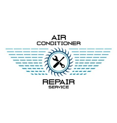 Air conditioner service logo vector image