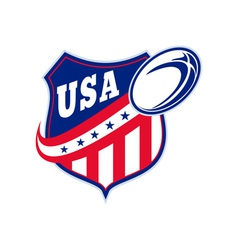 american rugby ball shield usa vector image
