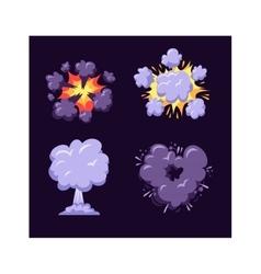 Boom explosion vector image